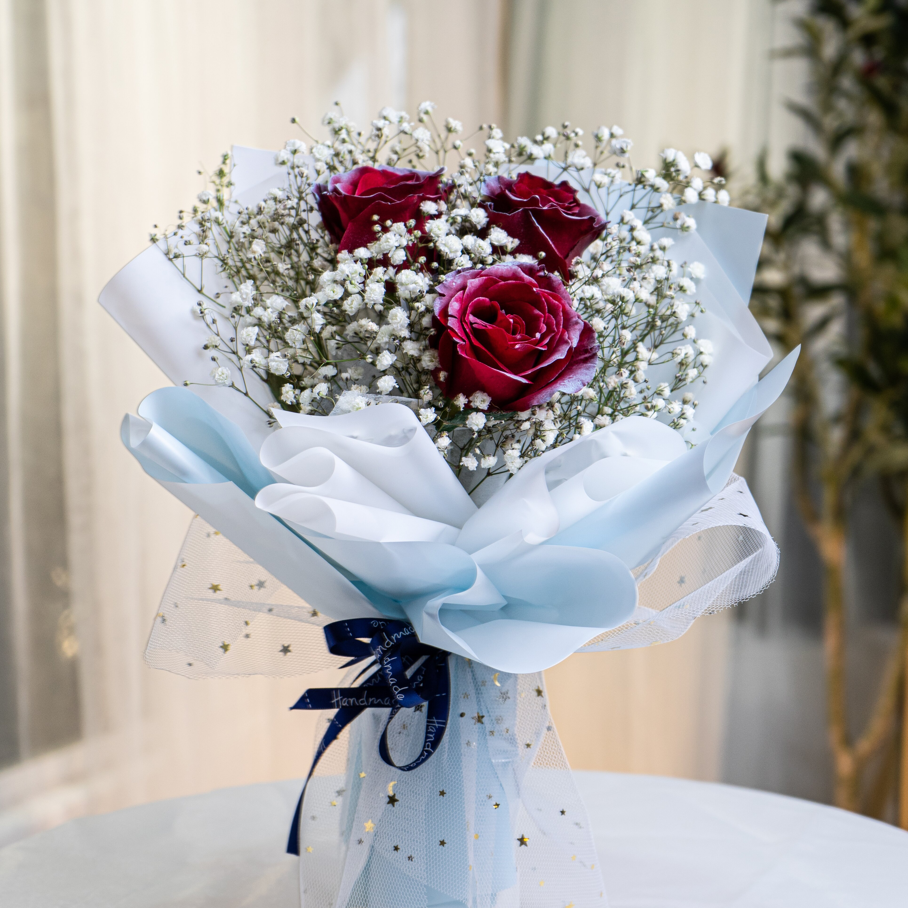 Milky Way Rose Bouquet - Freeland Floral 自由花苑