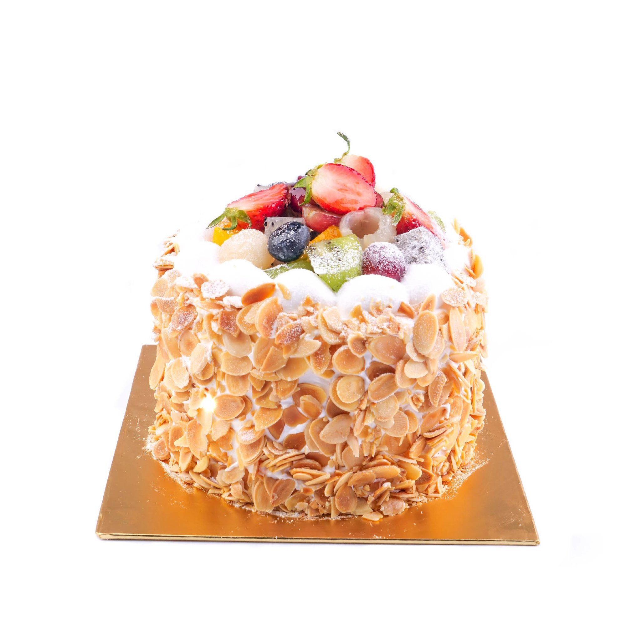 Fruit Flan Cake (Egg-less) - Freeland Floral 自由花苑